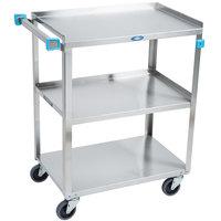 Lakeside 311 Standard Duty Stainless Steel 3 Shelf Utility Cart - 16 1/4 inch x 27 1/2 inch x 32 1/8 inch