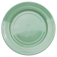 CAC TG-8-G Tango 9 inch Green Round Plate - 24/Case