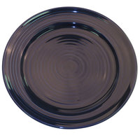 CAC TG-6-CBU Tango 6 1/2 inch Cobalt Blue Round Plate - 36/Case