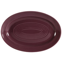 CAC TG-14-PLM Tango 13 5/8 inch x 9 3/8 inch Plum Oval Platter - 12/Case