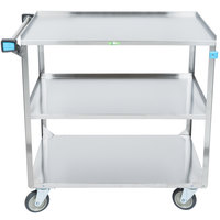 Lakeside 459 Medium Duty Stainless Steel 3 Shelf Utility Cart - 22 3/8 inch x 54 1/8 inch x 37 1/4 inch