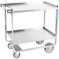 Lakeside 743 Heavy Duty Stainless Steel 2 Shelf Utility Cart - 22 3/8 inch x 38 5/8 inch x 37 1/8 inch
