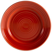 CAC TG-6-R Tango 6 1/2 inch Red Round Plate - 36/Case