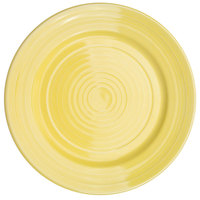 CAC TG-16-SFL Tango 10 1/2 inch Sunflower Round Plate - 12/Case