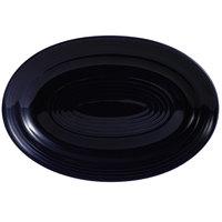 CAC TG-51-CBU Tango 15 3/4 inch x 11 inch Cobalt Blue Oval Platter - 12/Case