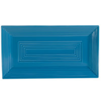 CAC TG-RT13-PCK Tango 11 5/8 inch x 6 3/8 inch x 1 inch Peacock Rectangular Platter - 12/Case