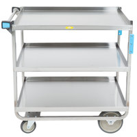 Lakeside 544 Heavy Duty NSF Stainless Steel 3 Shelf Utility Cart - 22 3/8 inch x 38 5/8 inch x 37 1/8 inch
