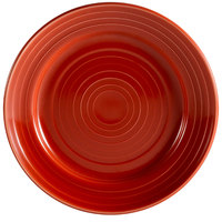 CAC TG-16-R Tango 10 1/2 inch Red Round Plate - 12/Case