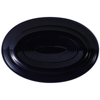 CAC TG-12-CBU Tango 10 5/8 inch x 7 3/4 inch Cobalt Blue Oval Platter - 24/Case