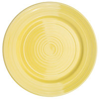CAC TG-21-SFL Tango 12 inch Sunflower Round Plate - 12/Case