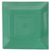 CAC TG-SQ16-G Tango 10 inch Green Square Plate - 12/Case