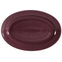CAC TG-13-PLM Tango 11 3/4 inch x 8 inch Plum Oval Platter - 12/Case