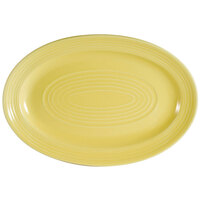 CAC TG-12-SFL Tango 10 5/8 inch x 7 3/4 inch Sunflower Oval Platter - 24/Case