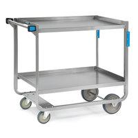 Lakeside 558 Heavy Duty NSF Stainless Steel 2 Shelf Utility Cart - 22 3/8 inch x 54 5/8 inch x 37 inch