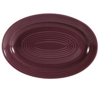 CAC TG-12-PLM Tango 10 5/8 inch x 7 3/4 inch Plum Oval Platter - 24 / Case