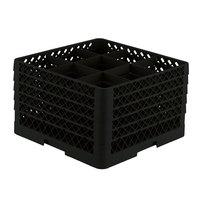 Vollrath TR10FFFFF Traex® Full-Size Black 9-Compartment 11 inch Glass Rack
