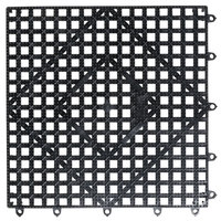 San Jamar VM5280BK-12 Versa-Mat® 12 inch x 12 inch Black Interlocking Bar Matting - 12/Case
