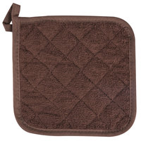 San Jamar 802TPH 8 inch x 8 inch Terry Cloth Pot Holder - 12 / Pack