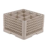 Vollrath TR10FFFFF Traex® Full-Size Beige 9-Compartment 11 inch Glass Rack