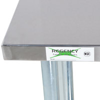 regency 24 inch x 60 inch 18 gauge 304 stainless steel commercial work table with