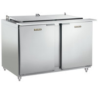 Traulsen UST488-LR 48 inch Sandwich / Salad Prep Refrigerator with Left / Right Hinged Doors