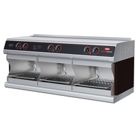 Hatco TFWM-3939 Black Wall Mount Food Finisher with Three Top and Three Bottom Heating Elements