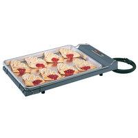 Hatco GR-B Glo-Ray Gray 13 inch x 22 inch Portable Food Warmer with Heated Base - 120V, 250W