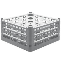 Vollrath 52770 Signature Full-Size Gray 16-Compartment 9 1/16 inch XX-Tall Plus Glass Rack