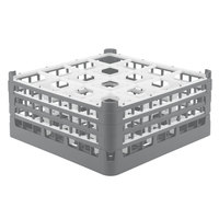 Vollrath 52769 Signature Full-Size Gray 16-Compartment 7 11/16 inch X-Tall Plus Glass Rack