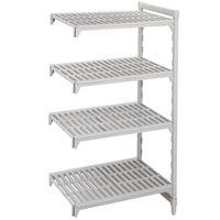 Cambro Camshelving Premium CPA243672V4480 Vented Add On Unit 24 inch x 36 inch x 72 inch - 4 Shelf