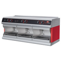 Hatco TFWM-3939 Warm Red Wall Mount Food Finisher with Three Top and Three Bottom Heating Elements - 208V, 3 Phase
