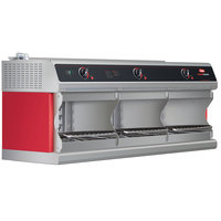 Hatco TFWM-3900 Warm Red Wall Mount Food Finisher with Three Top Heating Elements - 208V, 3 Phase