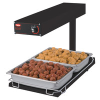Hatco GRFFBI Glo-Ray Black 12 3/4 inch x 24 inch Portable Food Warmer with Infinite Controls and Heated Base - 120V, 750W