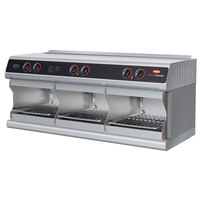 Hatco TFWM-3939 Stainless Steel Wall Mount Food Finisher with Three Top and Three Bottom Heating Elements