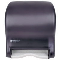 San Jamar T8000TBK Tear-N-Dry Essence Hands Free Roll Towel Dispenser - Black Pearl