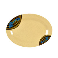 Wei 8 inch x 6 inch Oval Melamine Platter - 12 / Pack