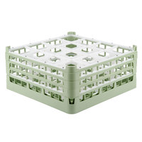Vollrath 52769 Signature Full-Size Light Green 16-Compartment 7 11/16 inch X-Tall Plus Glass Rack