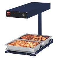 Hatco GRFFBL Glo-Ray Navy 12 3/4 inch x 24 inch Portable Food Warmer with Heated Base and Overhead Light - 120V, 870W