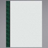 8 1/2 inch x 11 inch Menu Paper Left Insert - Green Woven Border - 100/Pack