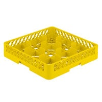 Vollrath TR10 Traex® Full-Size Yellow 9-Compartment 3 1/4 inch Glass Rack
