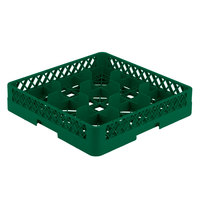 Vollrath TR10 Traex® Full-Size Green 9-Compartment 3 1/4 inch Glass Rack