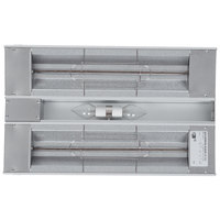 Hatco GRAHL-24D Glo-Ray 24 inch Aluminum Dual High Wattage Infrared Warmer with 3 inch Spacer and Toggle Controls - 1120W