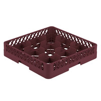 Vollrath TR10 Traex® Full-Size Burgundy 9-Compartment 3 1/4 inch Glass Rack