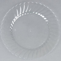 WNA Comet CW75180 Classicware 7 1/2 inch Clear Plastic Plate - 18 / Pack