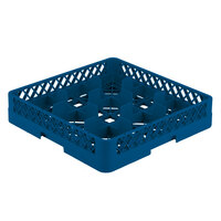 Vollrath TR10A Traex Full-Size Royal Blue 9-Compartment 4 13/16 inch Glass Rack with Open Rack Extender On Top