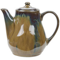 Tuxton GAJ-101 TuxTrendz Artisan Mojave 17 oz. China Tea Pot with Lid - 12/Case