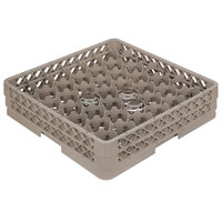 Vollrath TR13JJJJ Traex® Rack Max Full-Size Beige 12-Compartment 6 3/4 inch Glass Rack