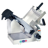 Globe 3600N-22050 Manual Gravity Feed Meat Slicer with 13 inch Carbon Steel Blade and Touch Pad Controls for International Use Only