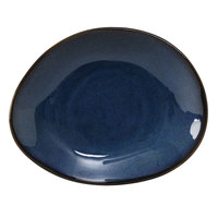 Tuxton GAN-650 TuxTrendz Artisan Night Sky 8 3/8 inch x 6 7/8 inch Ellipse China Plate - 12/Case