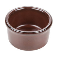 Tuxton GAR-752 TuxTrendz Artisan Red Rock 2.5 oz. China Ramekin - 24/Case
